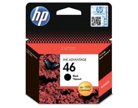 Картридж HP 46 для 2020hc CZ733A 2520hc CZ338A, Чёрный, 1500стр, CZ637AE