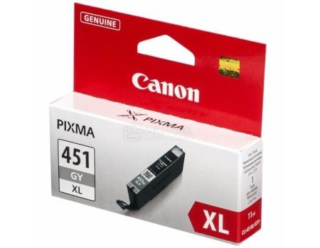 Картридж Canon CLI-451GY XL для iP7240 MG5440 MG5540 MG6340 MG6440 MG7140 MX924 665стр Серый 6476B001