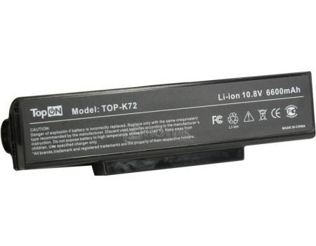 Аккумулятор TopON TOP-K72 10.8V 4400mAh для ASUS K72 N71 N73 X72 F2 F3 A9 Series PN: A32-K72 A32-N71 A32-F3