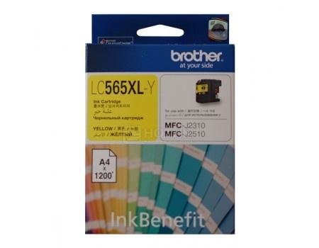 Картридж Brother LC-565XLY для MFCJ2310 2510 3520 3720 1200стр, Желтый LC565XLY