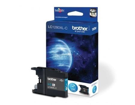 Картридж Brother LC-1280XLC для MFCJ5910 6510 6910 1200с голубой LC1280XLC