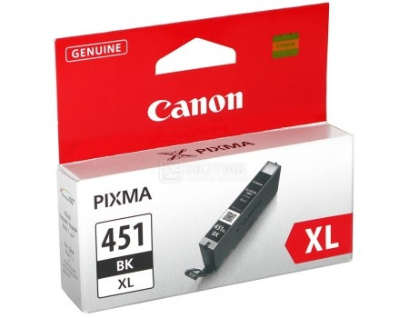 Картридж Canon CLI-451BK XL для iP7240 MG5440 MG5540 MG6340 MG6440 MG7140 MX924 665стр Черный 6472B001, арт: 56739 - Canon