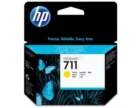 Картридж HP 711 для HP Designjet T120/T520 ePrinter series 29 мл желтый CZ132A