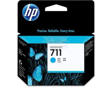 Картридж HP 711 для HP Designjet T120/T520 ePrinter series 29 мл голубой CZ130A, арт: 56781 - HP