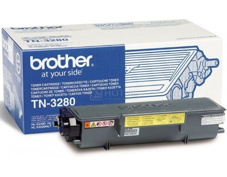 Картридж Brother TN-3280 для HL-5340D HL-5350DN HL-5370DW DCP-8070D DCP-8085DN MFC-8370DN MFC-8880DN 8000стр, Черный, арт: 56791 - Brother