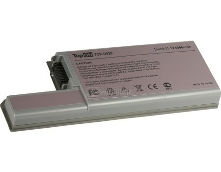 Аккумулятор TopON TOP-D820 11.1V 4800mAh для Dell PN: CF623 YD626 DF192 CF704 XD739
