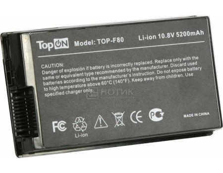 Аккумулятор TopON TOP-F80 10.8V 5200mAh для Asus PN: A32-F80A A32-F80H 70-NF51B1000 90-NF51B1000, арт: 56986 - TopON