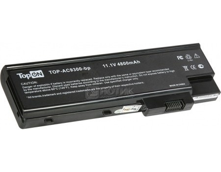 Аккумулятор TopON TOP-AC9300 11.1V 4800mAh для Acer PN: UR18650F-2-QC218 LC.BTP01.013 3UR18650Y-2-QC236, арт: 56989 - TopON