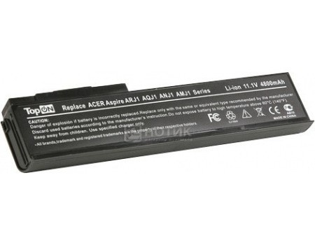 Аккумулятор TopON TOP-ARJ1 11.1V 4800mAh для Acer eMachines PN BTP-AMJ1 BTP-ARJ1 BTP-ANJ1 BTP-AOJ1 BTP-AQJ1, арт: 56990 - TopON