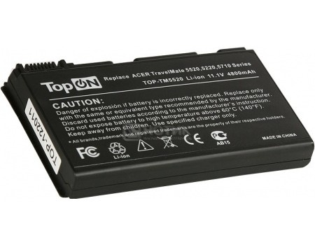 Аккумулятор TopON TOP-TM5520 11.1V 4800mAh для Acer PN: TM00741 TM00751 GRAPE32, арт: 56991 - TopON