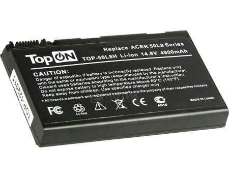 Аккумулятор TopON TOP-50L8H 14.8V 4800mAh для Acer PN: BATBL50L8H, арт: 56997 - TopON