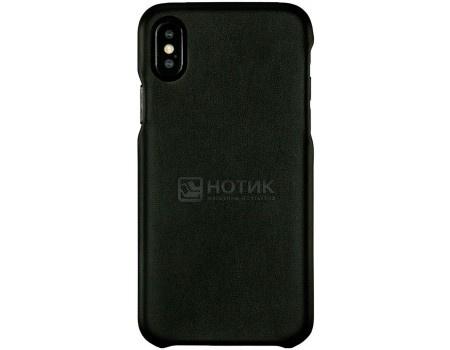 Чехол-накладка G-Case Slim Premium для смартфона Apple iPhone X / XS, Искусственная кожа, Черный GG-893 фото