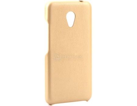 Фотография товара чехол-накладка G-Case Slim Premium для смартфона Meizu M5c, Искусственная кожа, Золотистый GG-874 (57085)