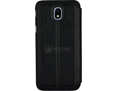 Чехол-накладка G-Case Slim Premium для смартфона Samsung Galaxy J7 (2017) SM-J730F, Искусственная кожа, Черный GG-843 фото