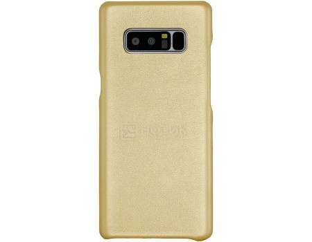 Фотография товара чехол-накладка G-Case Slim Premium для смартфона Samsung Galaxy Note 8, Искусственная кожа, Золотистый GG-868 (57097)