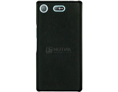 Фотография товара чехол-накладка G-Case Slim Premium для смартфона Sony Xperia XZ1 Compact, Искусственная кожа, Черный GG-898 (57126)