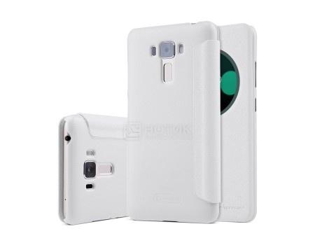 Фотография товара чехол-книжка Nillkin Sparkle Case для смартфона ASUS ZenFone 3 Laser ZC551KL, Пластик/искусственная кожа, White, Белый SP-LC AS-ZC551KL White (57223)