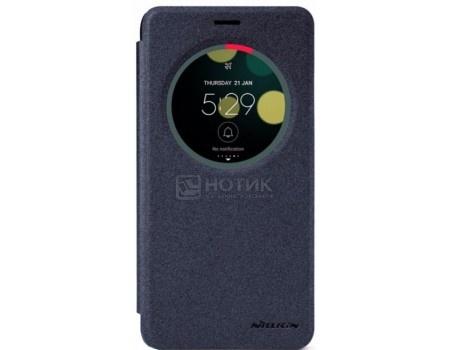 Фотография товара чехол-книжка Nillkin Sparkle Case для смартфона ASUS ZenFone 3 Laser ZC551KL, Пластик/искусственная кожа, Black, Черный SP-LC AS-ZC551KL Black (57224)