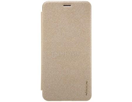 Фотография товара чехол-книжка Nillkin Sparkle Case для смартфона ASUS ZenFone 3 MAX ZC553KL, Пластик/искусственная кожа, Gold, Золотистый SP-LC AS-ZC553KL Gold (57228)