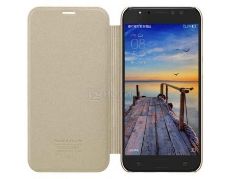 Чехол-книжка Nillkin Sparkle Case для смартфона ASUS ZenFone 4 Selfie Pro ZD552KL, Пластик/искусственная кожа, Gold, Золотистый SP-LC AS-ZD552KL Gold