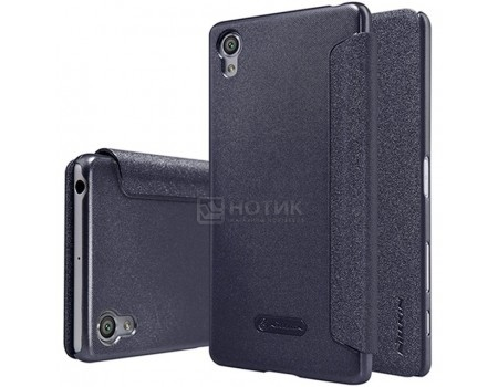 Купить чехол-книжка Nillkin Sparkle Case для смартфона Xperia X, Пластик/искусственная кожа, Black, Черный SP-LC SON-XPERIA X Black (57232) в Москве, в Спб и в России