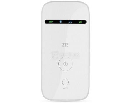 Фотография товара беспроводной Модем ZTE 2G/3G, Wi-Fi 802.11b/g/n до 21.6  Мбит/с, 1500 мАч, Белый (57241)