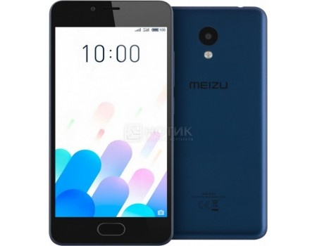 Смартфон Meizu M5c 16Gb Blue (Android 7.0 (Nougat)/MT6737 1300MHz/5.0* 1280x720/2048Mb/16Gb/4G LTE ) [M710H-16-BLUE], арт: 57344 - Meizu