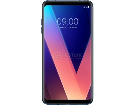 "Фотография товара смартфон LG V30+ H930DS 128Gb Blue (Android 7.1 (Nougat)/MSM8998 2450MHz/6.0"" 2880x1440/4096Mb/128Gb/4G LTE ) [LGH930DS.ACISBL] (57510)"