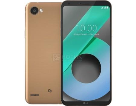"Фотография товара смартфон LG Q6 M700AN 32Gb Gold (Android 7.1 (Nougat)/MSM8940 1400MHz/5.5"" 2160x1080/3072Mb/32Gb/4G LTE ) [LGM700AN.ACISKG] (57512)"