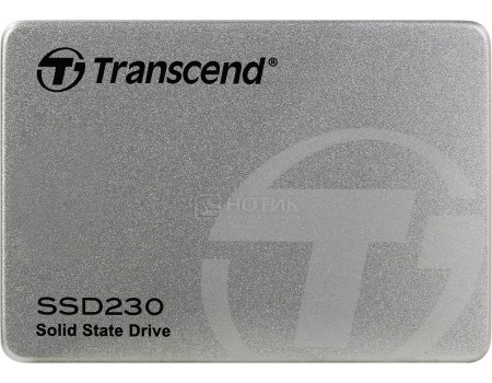 """Внутренний SSD-накопитель Transcend 230S 256Gb 25"""" SATA-III TLC Серый TS256GSSD230S."""