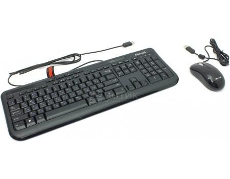 Фотография товара клавиатура + мышь проводная Microsoft Wired Desktop 600, USB, Black (комплект), Черный APB-00011 (57573)