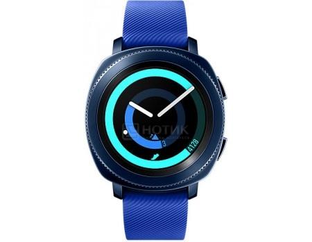 Купить смарт-часы Samsung Gear Sport SM-R600, 300мАч, Синий SM-R600NZBASER (57700) в Москве, в Спб и в России