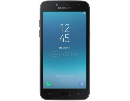 "Фотография товара смартфон Samsung Galaxy J2 2018 SM-J250F DS Black (Android 7.1 (Nougat)/MSM8917 1400MHz/5.0"" 960x540/1536Mb/16Gb/4G LTE ) [SM-J250FZKDSER] (57783)"