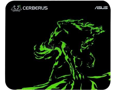 Коврик для мыши ASUS Cerberus Mini, Черный/Зеленый 90YH01C4-BDUA00