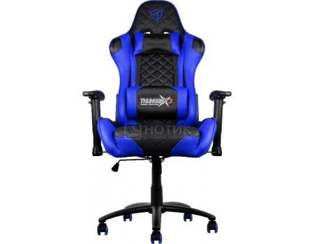 Кресло геймерское ThunderX3 TX3-12BB, Искусственная кожа, Черный/Синий TGC12-BB от Нотик