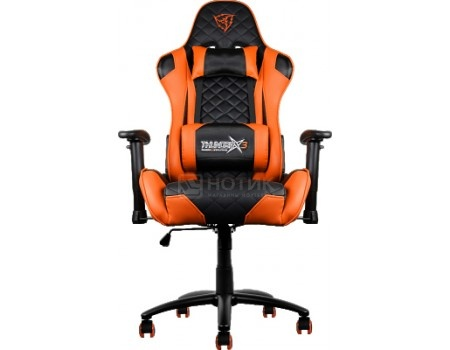 Кресло геймерское ThunderX3 TX3-12BO, Искусственная кожа, Черный/ Оранжевый TGC12-BO от Нотик