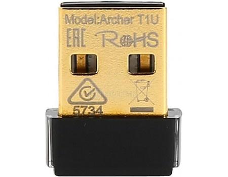 Адаптер Wi-Fi TP-Link Archer T1U, USB 2.0, 802.11b/g/n/ac до 150 Мбит/с, Черный, арт: 58032 - TP-Link