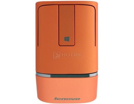 Фотография товара мышь беспроводная Lenovo N700 Dual Mode WL Touch Mouse, Bluetooth, 1200dpi, Orange, Оранжевая, 888016134 (58047)