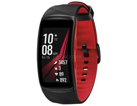 Смарт-часы Samsung Galaxy Gear Fit 2 Pro SM-R365(S), 200 мAч, Черный/Красный SM-R365NZRNSER
