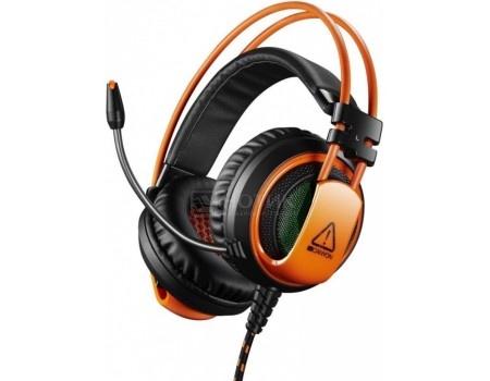 Гарнитура проводная Canyon, USB, Черный/Оранжевый CND-SGHS5