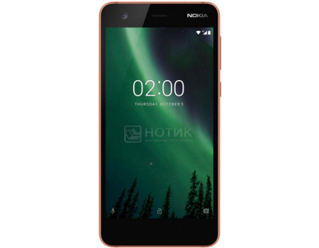 "Фотография товара смартфон Nokia 2 DS 8Gb Black Copper (Android 7.1 (Nougat)/MSM8909v2 1300MHz/5.0"" 1280x720/1024Mb/8Gb/4G LTE ) [11E1MM01A03] (58195)"
