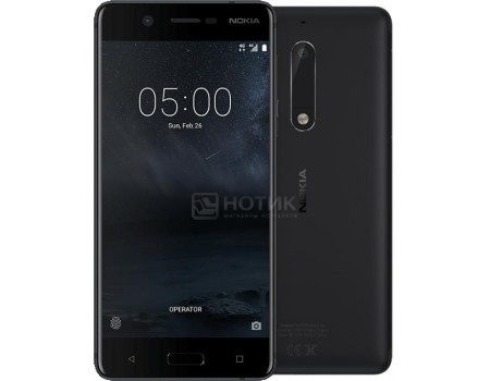 "Фотография товара смартфон Nokia 5 DS 16Gb Black (Android 7.1 (Nougat)/MSM8937 1400MHz/5.2"" 1280x720/2048Mb/16Gb/4G LTE ) [11ND1B01A20] (58198)"