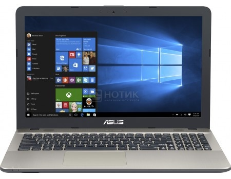 Ноутбук ASUS X541UA-DM517T (15.6 TN (LED)/ Core i5 6198DU 2300MHz/ 4096Mb/ HDD 1000Gb/ Intel HD Graphics 510 64Mb) MS Windows 10 Home (64-bit) [90NB0CF1-M29120]