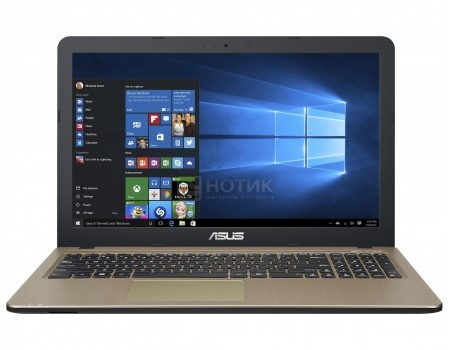 Ноутбук ASUS X540NV-DM037 (15.6 TN (LED)/ Celeron Quad Core N3450 1100MHz/ 4096Mb/ HDD 500Gb/ NVIDIA GeForce GT 920MX 2048Mb) Free DOS [90NB0HM1-M00620]