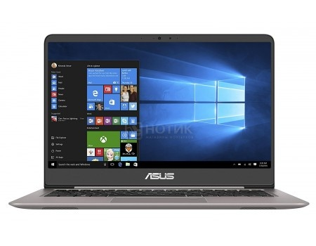 Фотография товара ультрабук ASUS Zenbook UX410UA-GV065R (14.0 IPS (LED)/ Core i3 7100U 2400MHz/ 4096Mb/ SSD / Intel HD Graphics 620 64Mb) MS Windows 10 Professional (64-bit) [90NB0DL1-M09510] (58270)