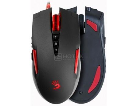 Мышь проводная A4 Bloody V2M, 3200dpi, Черный/Красный V2M, арт: 58289 - A4Tech