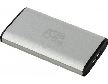 Фотография товара внешний бокс для SSD mSATA 3UBMS1 Silver USB 3.0, Серебристый (58300)