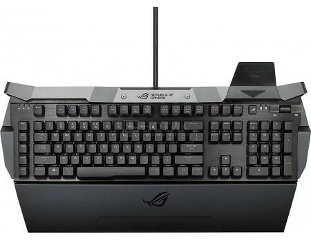 Фотография товара клавиатура проводная ASUS Horus GK2000 Cherry MX red switches, USB, Черный, 90XB01HN-BKB0H0 (58333)