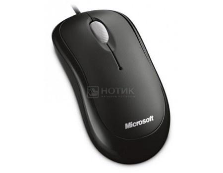 Мышь проводная Microsoft Basic, 1000dpi, PS2/USB, Черный 4YH-00007 фото