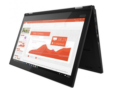 Фотография товара ультрабук Lenovo ThinkPad Yoga L380 (13.3 IPS (LED)/ Core i7 8550U 1800MHz/ 8192Mb/ SSD / Intel UHD Graphics 620 64Mb) MS Windows 10 Professional (64-bit) [20M7001JRT] (58440)
